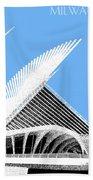 Milwaukee Skyline Art Museum - Light Blue Bath Towel