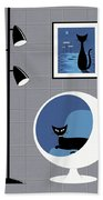 Mini Space Cat Hand Towel