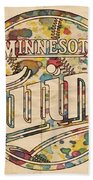 Minnesota Twins Poster Vintage Bath Towel