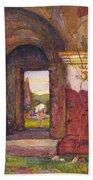 Mission Of San Juan Capistrano By Rowena Meeks Abdy 1887-1945  Bath Towel