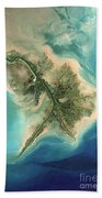 Mississippi River Delta, 2001 Bath Towel