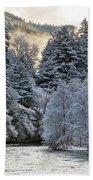 Mist And Snow On Trees Bath Towel