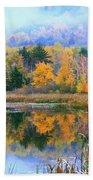 Misty Autumn Pond  Bath Towel