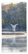 Misty Lake Angel Bath Towel