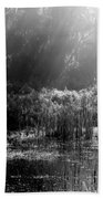 Misty Marsh - Black And White Bath Towel