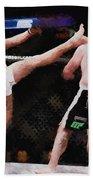Mixed Martial Arts - A Kick To The Head Bath Towel