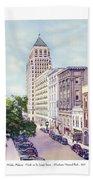 Mobile Alabama - North On St. Joseph Street - Merchants National Bank - 1937 Bath Towel