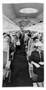 Model Of Boeing 707 Cabin Bath Towel by Underwood Archives