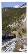 Moffat Tunnel East Portal At The Continental Divide In Colorado Bath Towel