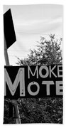 Mokee Motel Sign Circa 1950 Bath Towel