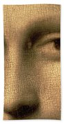Mona Lisa    Detail Hand Towel