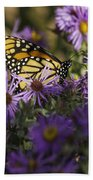 Monarch And Asters Bath Towel