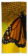 Monarch And Sunflower Bath Towel