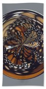 Monarch Butterfly Abstract Bath Towel