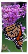 Monarch On Butterfly Bush Bath Towel