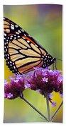 Monarch With Sunflower Bath Towel