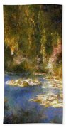 Monet After Midnight Bath Towel