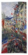 Monet: Montorgeuil, 1878 Bath Towel