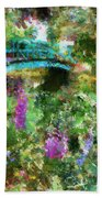 Monet's Bridge In Spring Bath Towel
