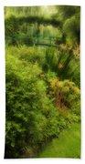 Monet's Garden Dreamscape Bath Towel