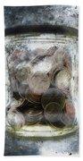Money Frozen In A Jar Hand Towel