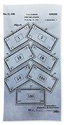 Monopoly Money Patent Bath Towel