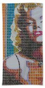 Monroe In Stamps Bath Towel