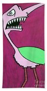 Monster Bird Bath Towel