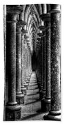 Mont St Michel Pillars Bath Towel