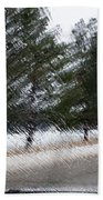 Montana Weather Report Bath Towel