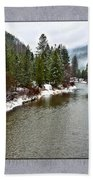 Montana Winter Frame Bath Towel