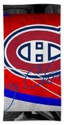 Montreal Canadiens Christmas Bath Towel