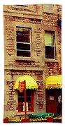 Montreal Memories Restaurant Chez Orphee 362 Fairmount Cb Spandau Montreal Premier City Scene Artist Bath Towel