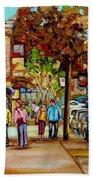Montreal Streetscenes By Cityscene Artist Carole Spandau Over 500 Montreal Canvas Prints To Choose  Bath Towel