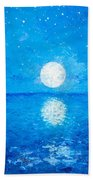 Moon And Stars Bath Towel