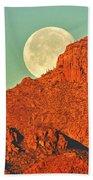 Moon Over Tucson Mountains Bath Towel