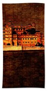 Moon Over Udaipur Painted Version Bath Towel