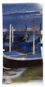 Moonlight Gondolas - Venice Bath Towel
