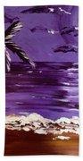 Moonlit Beach Bath Towel