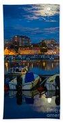 Moonrise In Karlskrona Bath Towel