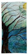 Moonrise In The Wild Night Bath Towel