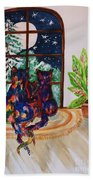Moonstruck Cats - Winter Wonderland Bath Towel