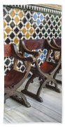 Moorish Tile Work At The Alhambra Bath Towel