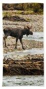 Moose Crossing River No. 1 - Grand Tetons Bath Towel