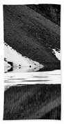 Moraine Lake Abstract - Black And White #2 Bath Towel