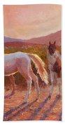 More Than Light Arizona Sunset And Wild Horses Bath Towel