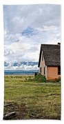 Mormon Row Historic District In Grand Tetons National Park-wyoming Bath Towel