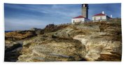 Morning At Beavertail Lighthouse Hand Towel