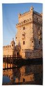 Morning At Belem Tower In Lisbon Bath Towel
