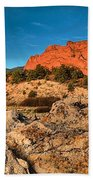 Morning Light At Garden Of The Gods Bath Towel